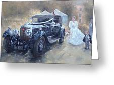 Bentley And Bride  Greeting Card