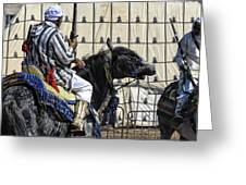Berber Festival Greeting Card by Chuck Kuhn