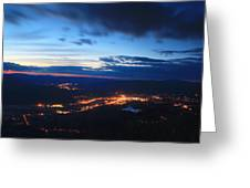 Berkshire Evening From Spruce Hill Savoy Mountain Greeting Card