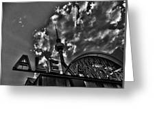 Berlin Alexanderplatz Greeting Card by Juergen Weiss