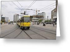 Berlin Alexanderplatz Square Greeting Card