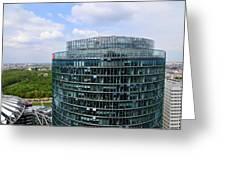 Berlin Bahn Tower Potsdamer Platz Square Greeting Card