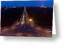 Berlin From The Siegessaule  Greeting Card by Mike Reid