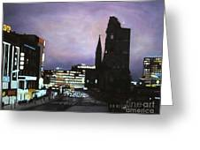 Berlin Nocturne Greeting Card by Michael John Cavanagh