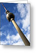 Berlin Television Tower Picture Greeting Card by Falko Follert