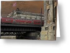 Berlin Train Greeting Card