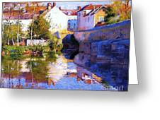Beside The River - Grez Greeting Card