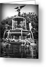 Bethesda Fountain Greeting Card by Paul Ward