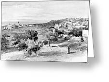 Bethlehem City In Black And White Greeting Card