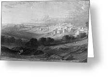 Bethlehem Engraving By William Miller Greeting Card