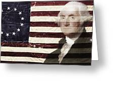 Betsey And George Flag Greeting Card