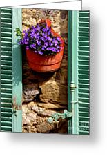 Between Shutters Greeting Card