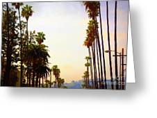 Beverly Hills In La Greeting Card