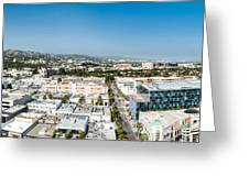 Beveryly Hills Panoramic Greeting Card