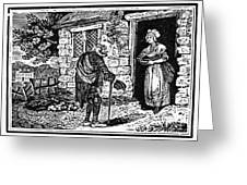 Bewick: Beggar Greeting Card