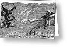 Bewick: Devil Greeting Card