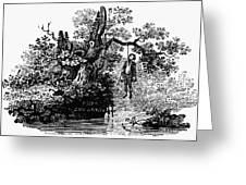 Bewick: Hanged Man Greeting Card