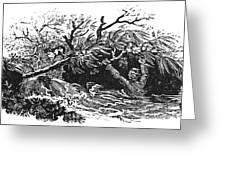 Bewick: Man Drowning Greeting Card