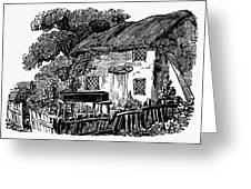 Bewick: Rural House Greeting Card