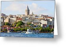 Beyoglu District In Istanbul Greeting Card by Artur Bogacki