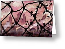 Beyond The Chain Link Greeting Card