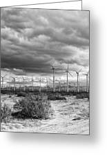Beyond The Clouds Bw Greeting Card