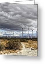 Beyond The Clouds Palm Springs Greeting Card