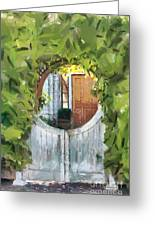 Beyond The Gate - A Scene From Mackinac Island Michigan Greeting Card