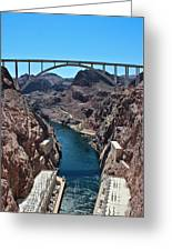 Beyond The Hoover Dam Spillway Greeting Card
