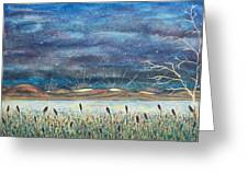 Beyond The Horizon Greeting Card by Jeanette Stewart