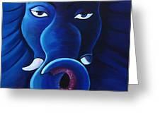 Bhalchandra-moon Crested Lord Ganesha Greeting Card
