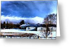 Bhs Softball Field Winter 2012 Detail Greeting Card