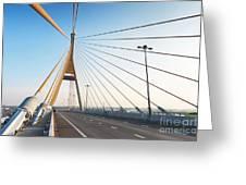 Bhumipol Bridge Greeting Card