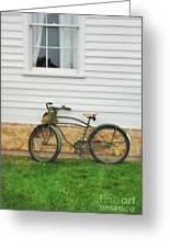 Bicycle By House Greeting Card