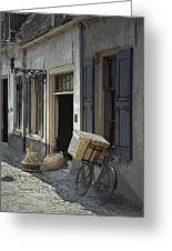 Bicycle On A Street By The Zuider Zee  Greeting Card