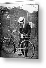 Bicycle Radio Antenna, 1914 Greeting Card by