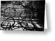 Bicycle Shadow 1 Greeting Card
