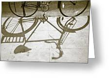 Bicycle Shadow Greeting Card