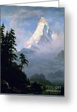 Bierstadt: Matterhorn Greeting Card by Granger