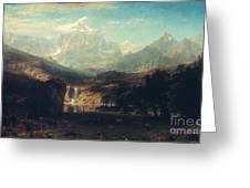 Bierstadt: Rockies Greeting Card