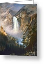 Bierstadt: Yellowstone Greeting Card by Granger