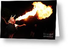 Big Axe Of Fire Greeting Card