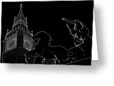 Big Ben And Boudica Greeting Card