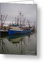 Big Blue Fishing Boat Greeting Card