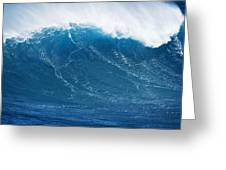 Big Blue Wave Greeting Card