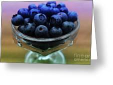 Big Bowl Of Blueberries Greeting Card