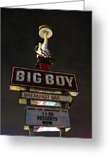 Big Boy At The Top Greeting Card