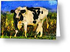 Big Bull 2 . 7d12437 Greeting Card by Wingsdomain Art and Photography