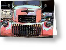 Big Chevy Rig Greeting Card