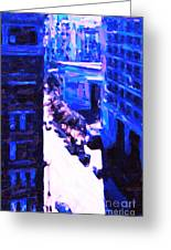 Big City Blues 2 Greeting Card by Wingsdomain Art and Photography